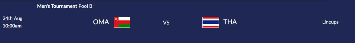 โปรแกรมการแข่งขันกีฬา เอเชียนเกมส์ 2018 ประจำวันที่ 24 สิงหาคม 2561