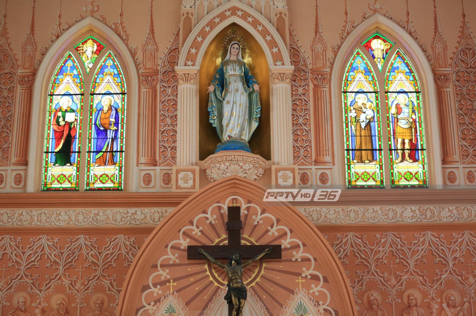 """ยลโฉมความงาม """"อาสนวิหารพระนางมารีอาปฏิสนธินิรมล"""" โบสถ์คริสต์ 100 กว่าปี"""