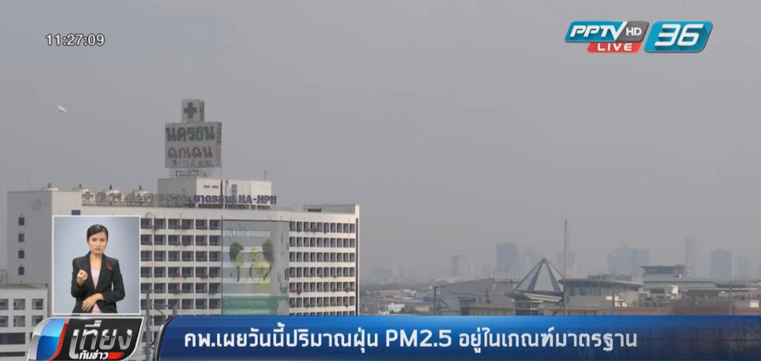 คพ.เผยวันนี้ปริมาณฝุ่น PM2.5 อยู่ในเกณฑ์มาตรฐาน