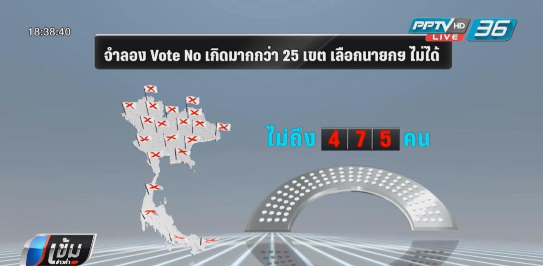 """""""VOTE NO"""" มีความหมายครั้งแรก ถ้าสูงกว่าคะแนนผู้สมัคร ส.ส.ให้เลือกตั้งใหม่"""