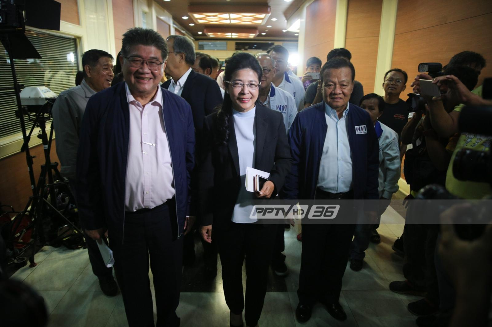 """""""เพื่อไทย"""" แถลงเป็นพรรคอันดับหนึ่ง เดินหน้าตั้งรัฐบาล"""