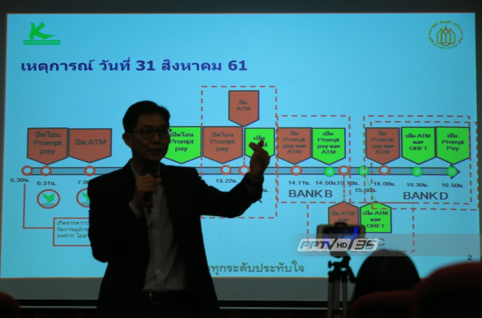 """""""กสิกรไทย"""" แจงระบบล่ม 31 ส.ค. เกิดจากพนักงานใช้คำสั่งจัดการเครือข่ายผิด!"""