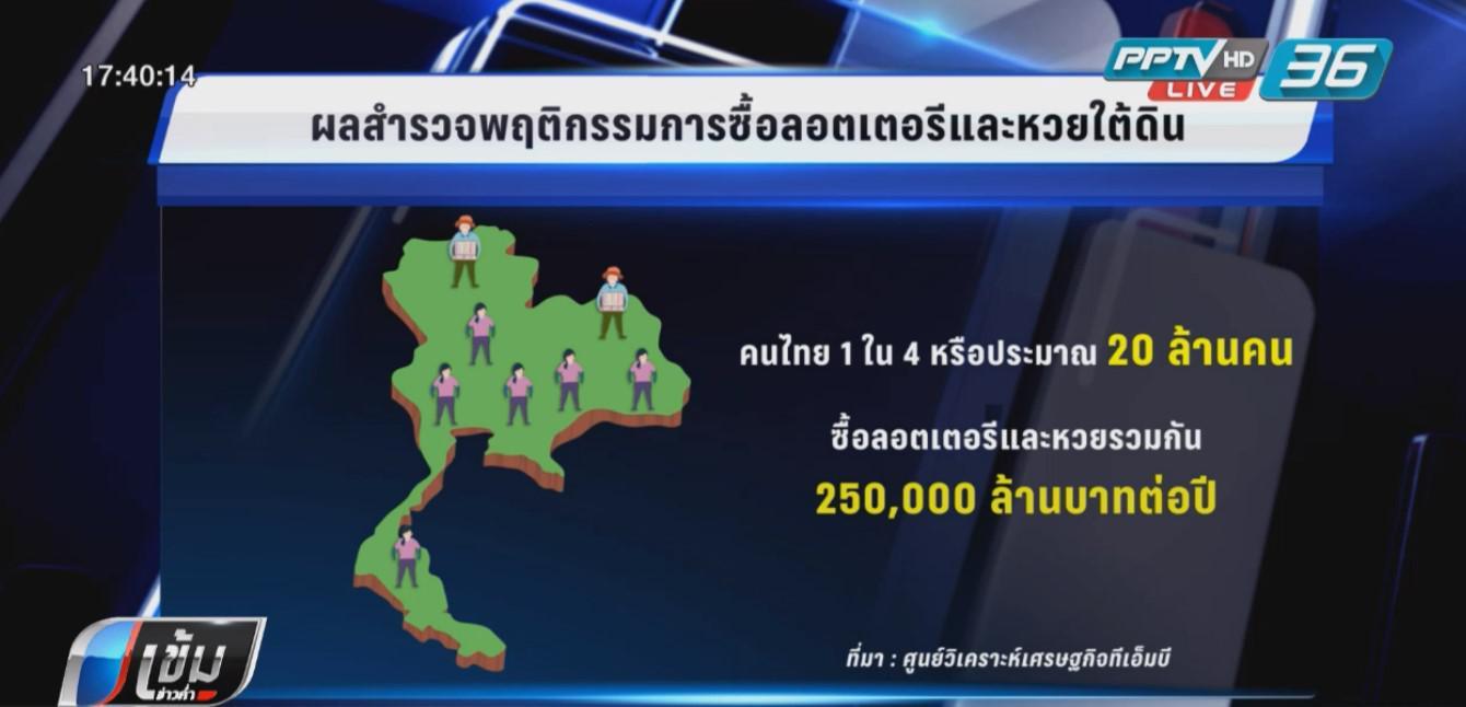 คนไทยเล่นหวยปีละ 2.5 แสนล้าน เทียบกับสร้างรถไฟเชื่อม 3 สนามบิน