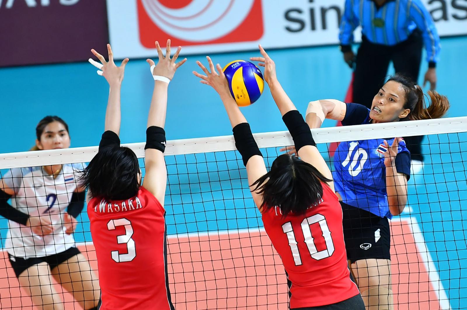 """""""วอลเลย์บอลสาวไทย"""" ชนะ """"ญี่ปุ่น"""" 3-0 เซต ศึกเอเชียนเกมส์ 2018"""
