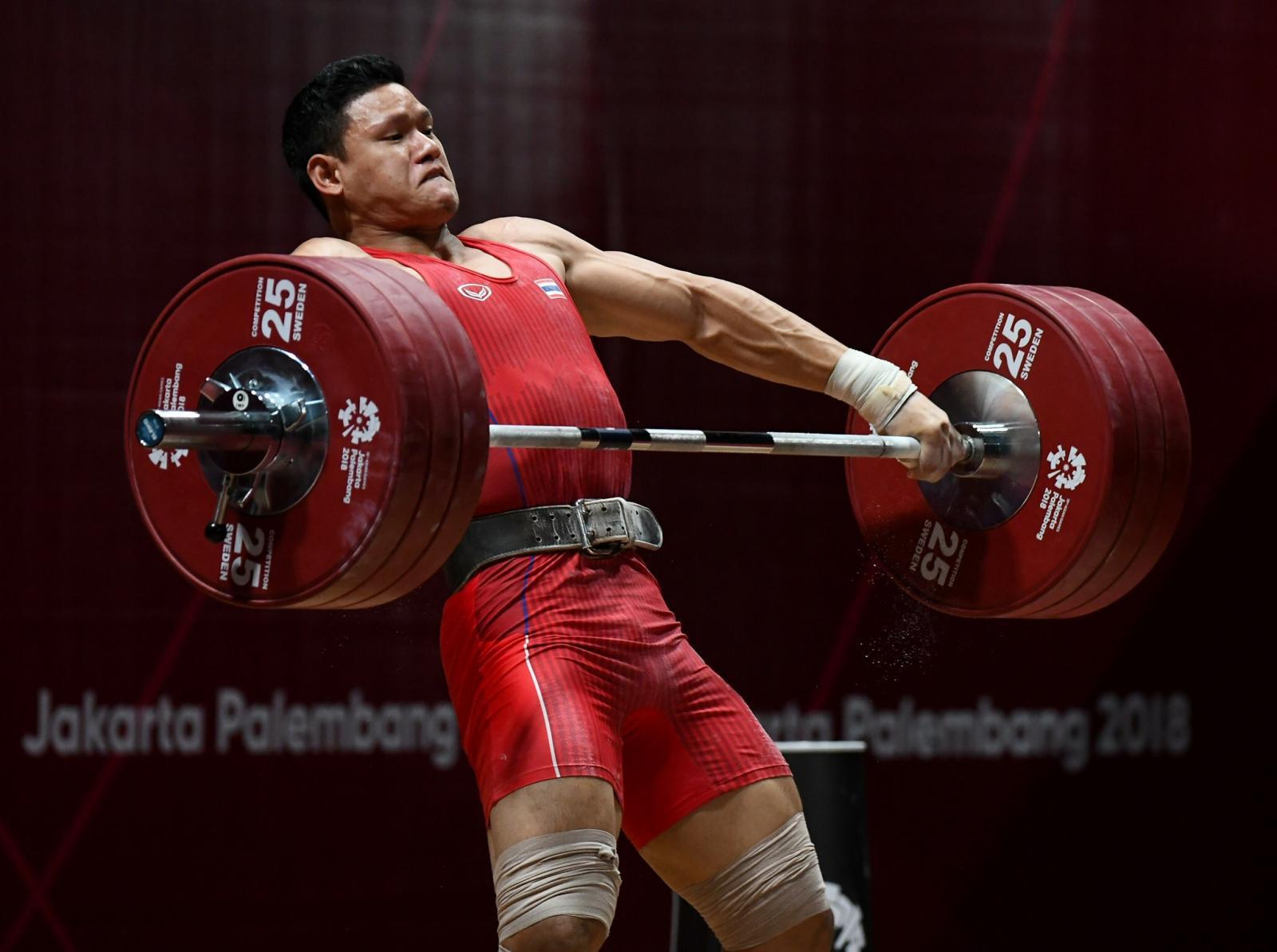 """""""ศรัท"""" โชว์พลังคว้าเหรียญทองแดง ยกน้ำหนักรุ่น 94 กก. ในเอเชียนเกมส์"""