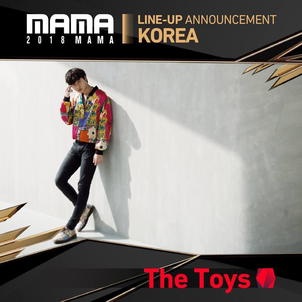 """""""The Toys"""" คว้ารางวัลศิลปินเอเชียหน้าใหม่ยอดเยี่ยม บนเวที MAMA2018"""