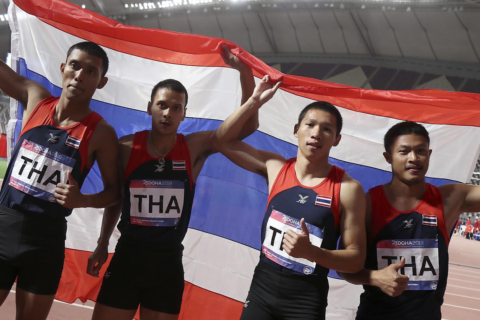 ลมกรด 4x100 เมตรชายไทย คว้าเหรียญทองชิงแชมป์เอเชีย