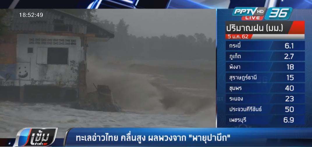 ทะเลอ่าวไทย คลื่นสูง ผลพวงจาก