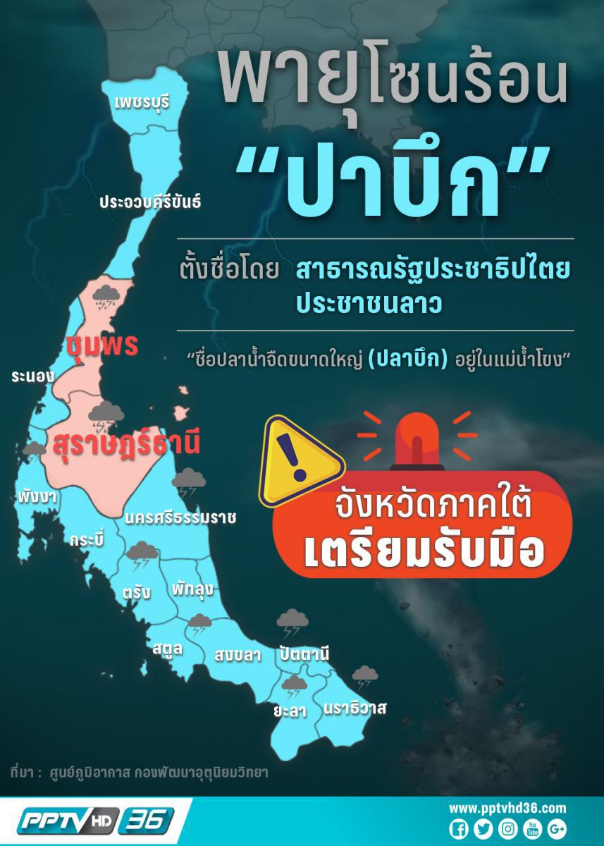 """""""พายุปาบึก"""" มาจากไหน! รู้ไว้ก่อนมาถึงภาคใต้ของไทยคืนนี้"""